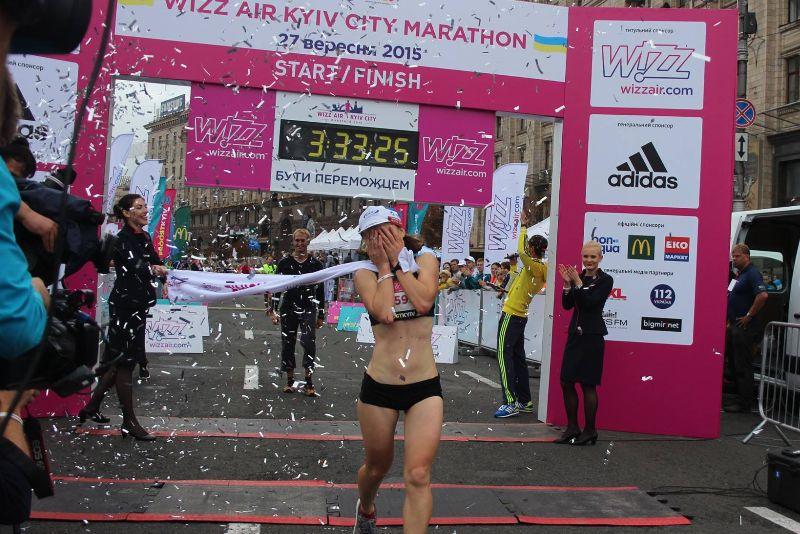 Мокрый киевский марафон