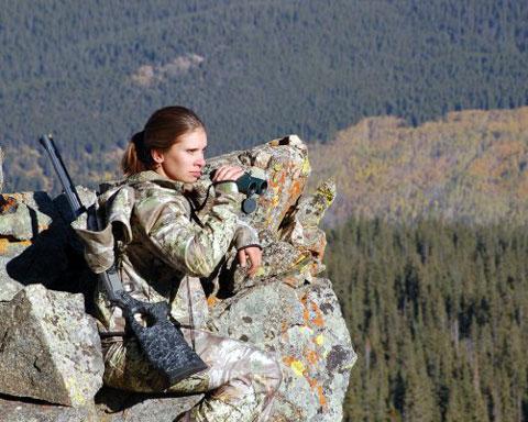 Женщина на охоте