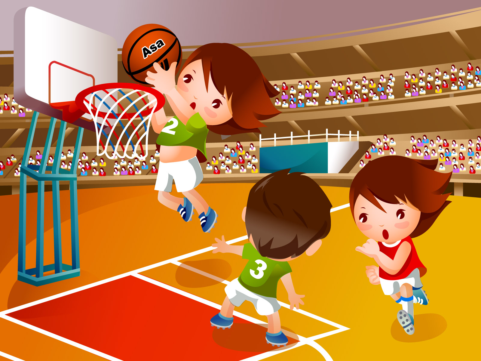 Детский взгляд на баскетбол