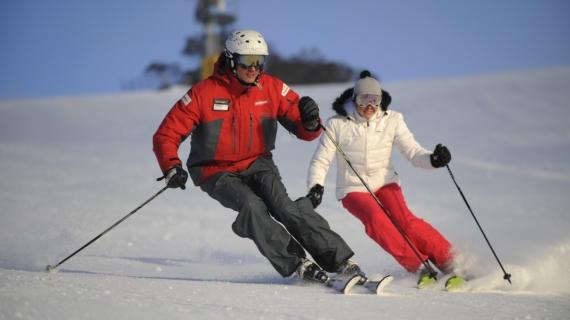 Как впервые встать на лыжи
